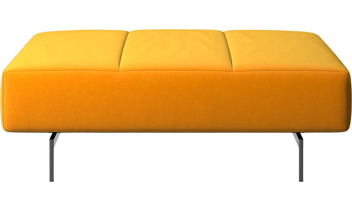 Footstools - Amsterdam footstool - Orange - Fabric