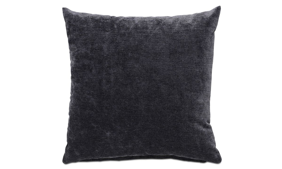 Velvet cushions - Velvet rough cushion - Grey - Fabric