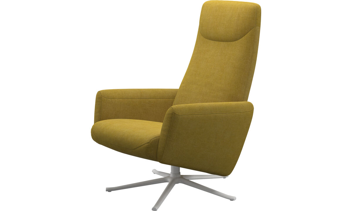 Recliners - Lucca recliner with swivel function - Yellow - Fabric