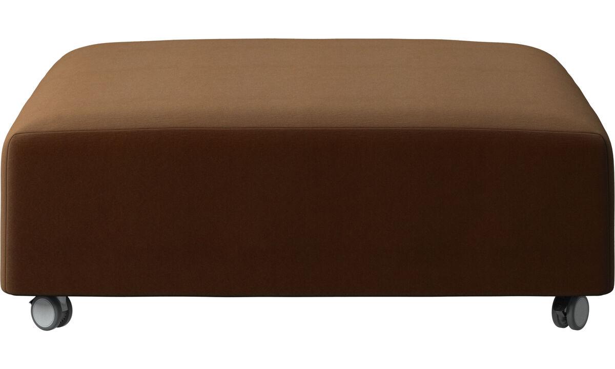 Footstools - Hampton pouf on wheels - Brown - Fabric