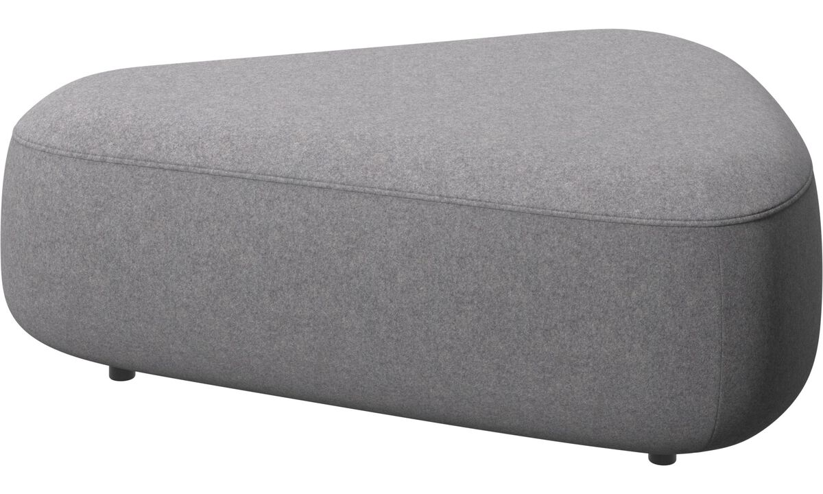 Footstools - Ottawa triangular pouf - Grey - Fabric