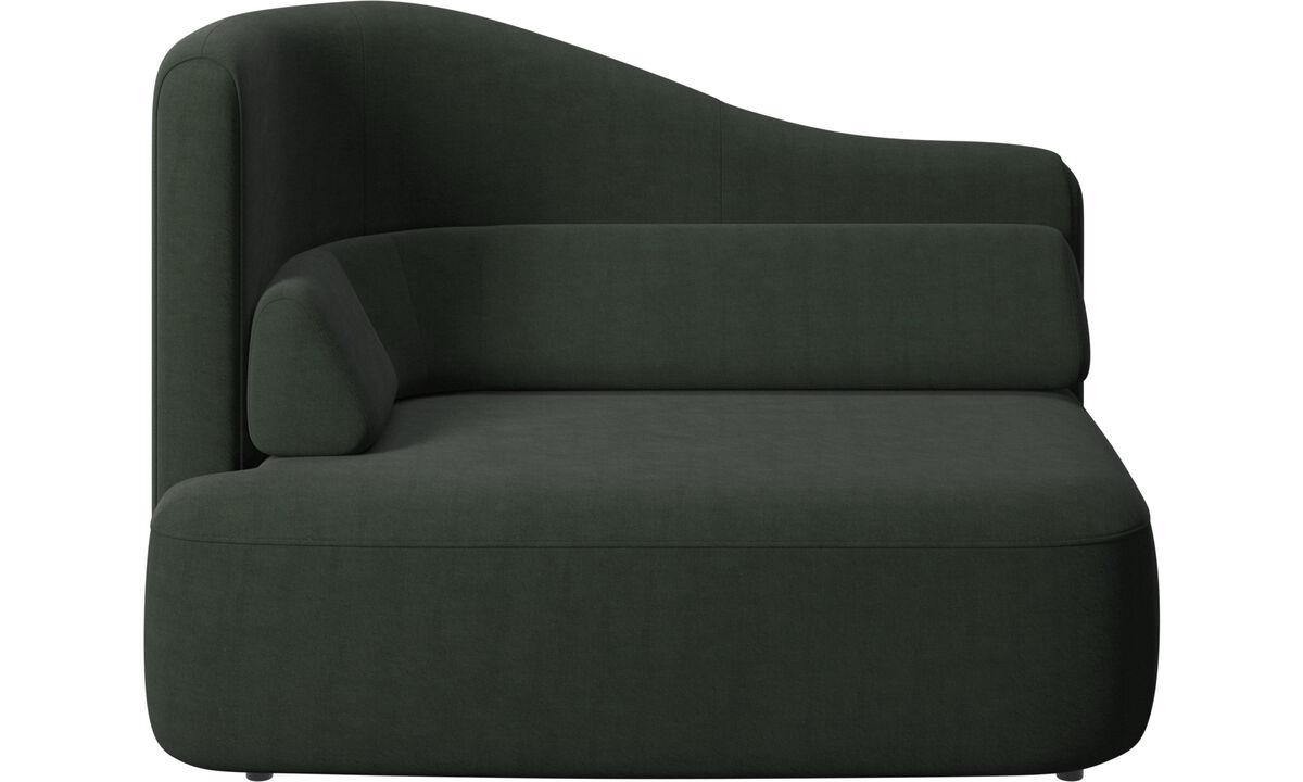 Sofás modulares - assento Ottawa 1,5 braço esquerdo - Verde - Tecido