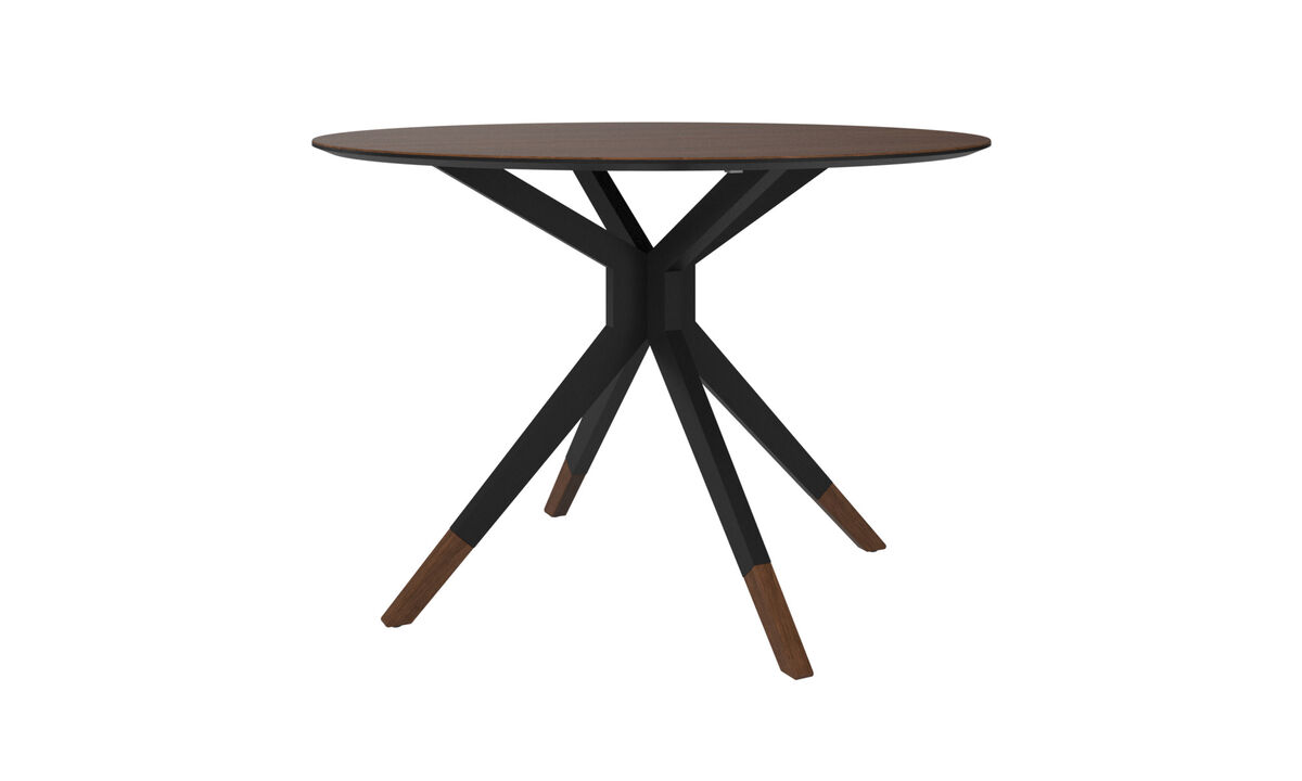 Dining tables - Billund table - round - Brown - Walnut