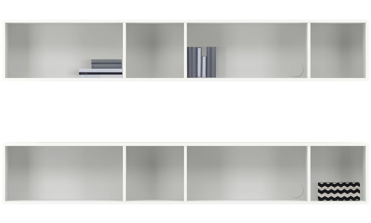 Wall Units - Como wall system - White - Lacquered