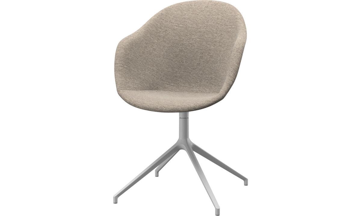 Krzesła do jadalni - Krzesło Adelaide na obrotowej nodze - Beżowy - Tkanina
