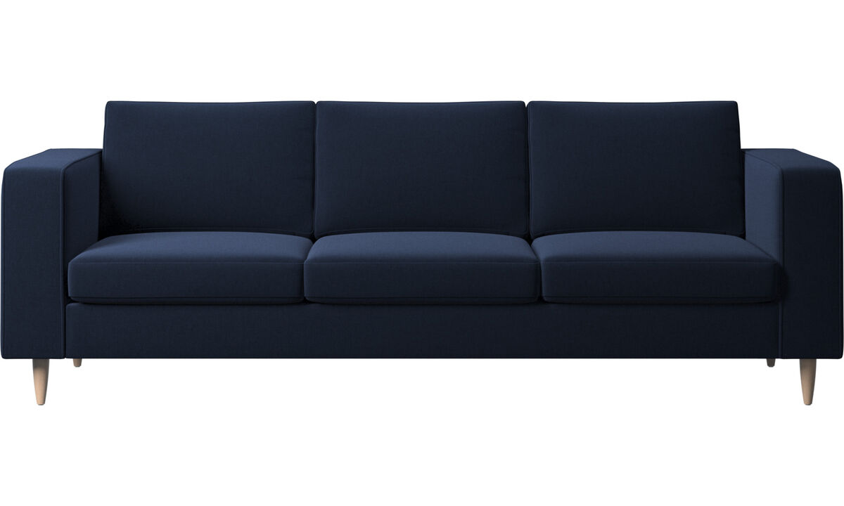 Sofas - Indivi 2 sofa - Blue - Fabric