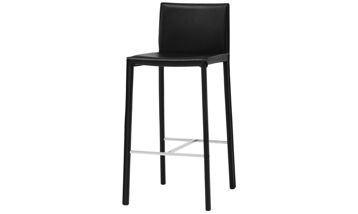 Bar stools - Zarra barstool - Black - Bonded leather