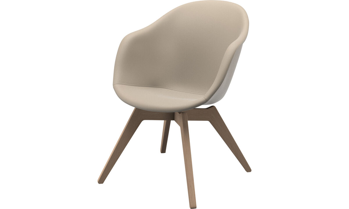 Armchairs - Adelaide lounge chair - Beige - Leather