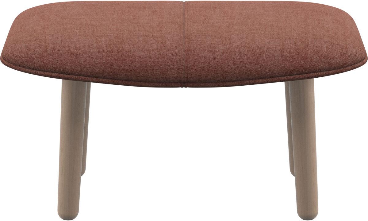Footstools - fusion footstool - Red - Fabric