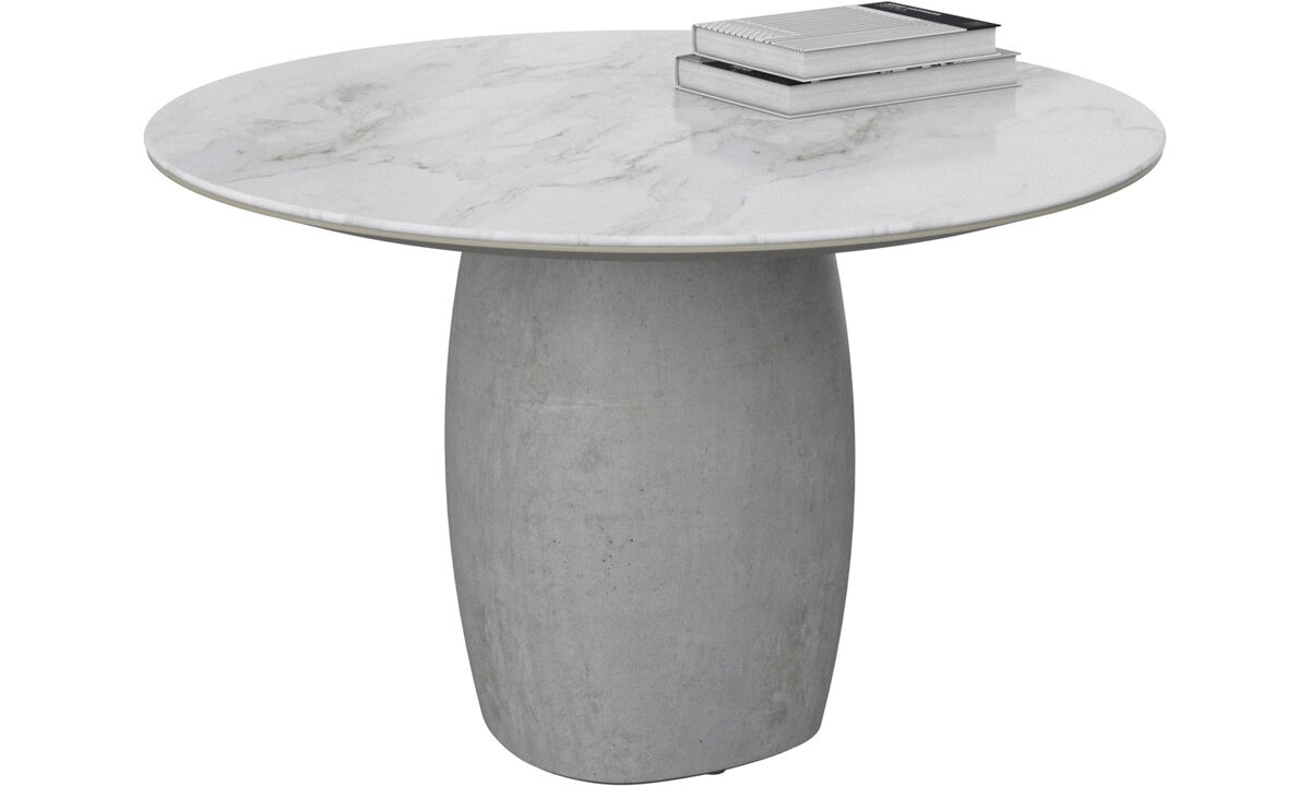 Mesas de centro - mesa lateral Bilbao - redonda - White - Cerâmico