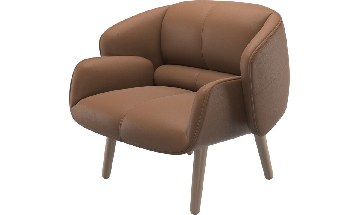 Armchairs - fusion chair - Brown - Leather