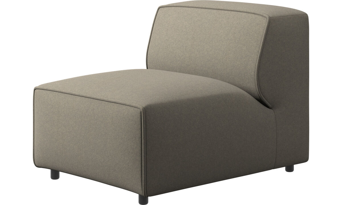 Modular sofas - Carmo chair/basic unit - Beige - Fabric