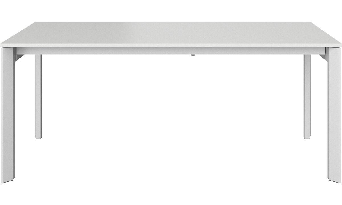 Esstische - Lyon Tisch mit Zusatztischplatte - rechteckig - Weiß - Lack