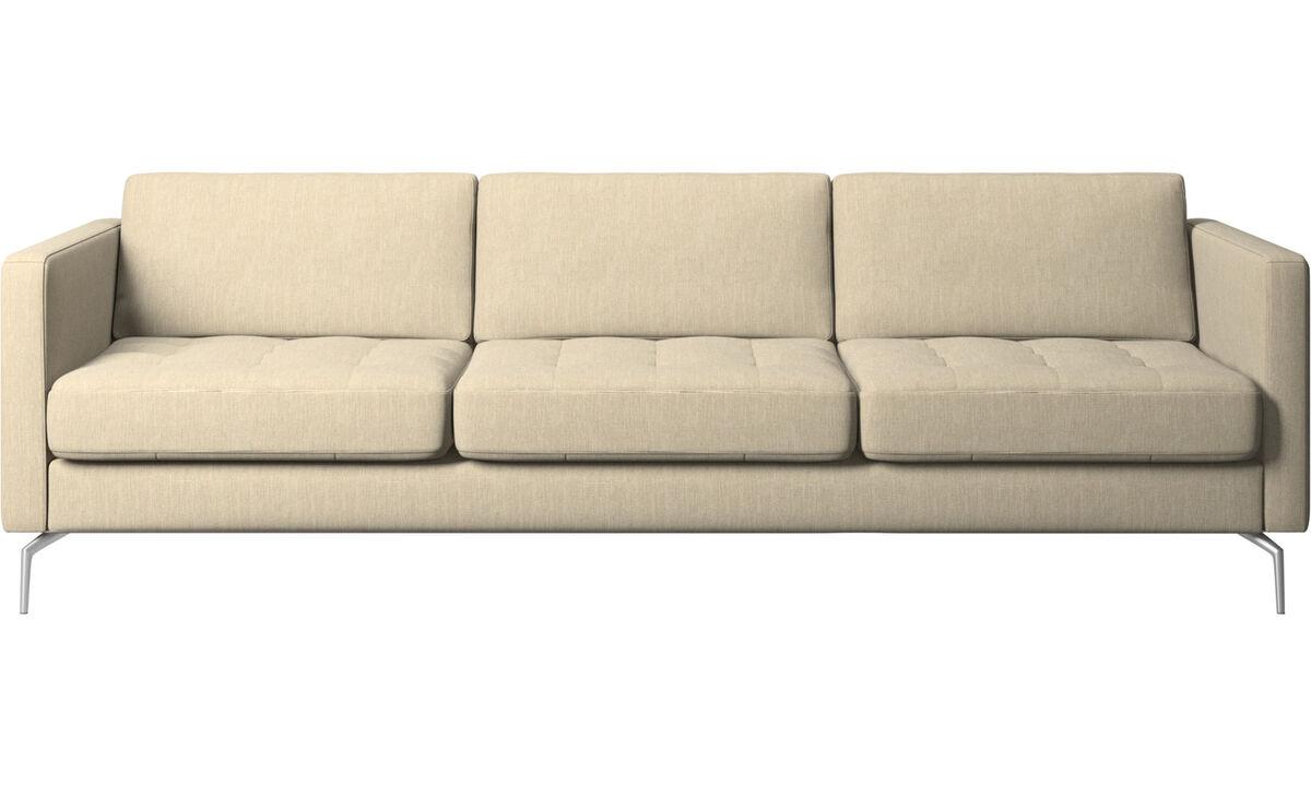 Sofas - Osaka sofa, tufted seat - Brown - Fabric
