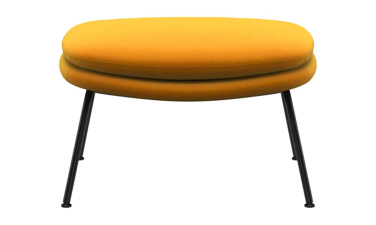 Footstools - Dublin footstool - Orange - Fabric