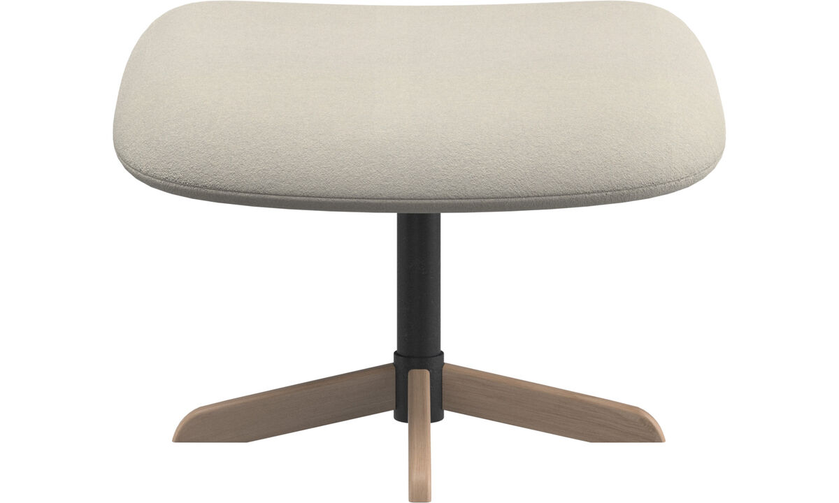 Footstools - Athena footstool - White - Fabric