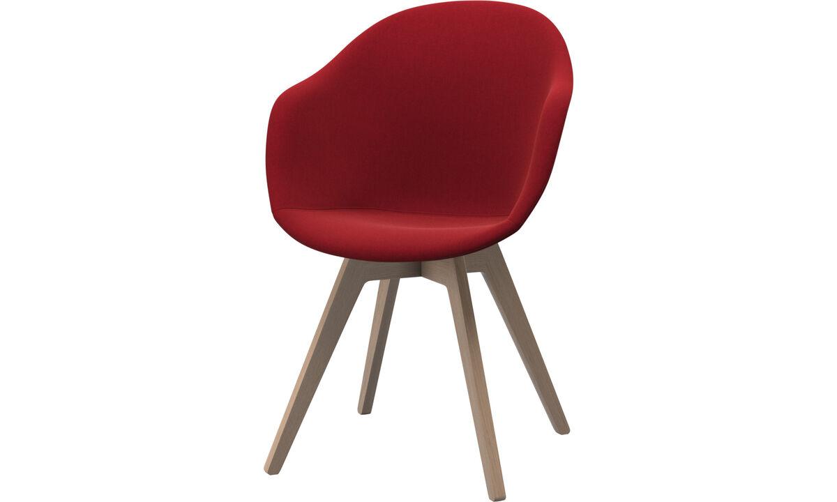 Spisestoler - Adelaide stol - Rødt - Tekstil