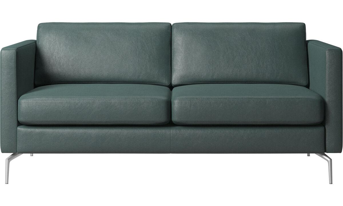 2 seater sofas - Osaka divano, seduta liscia - Verde - Tessuto