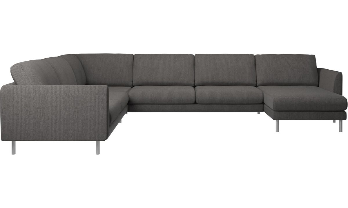 Corner sofas - Fargo corner sofa with resting unit - Black - Fabric