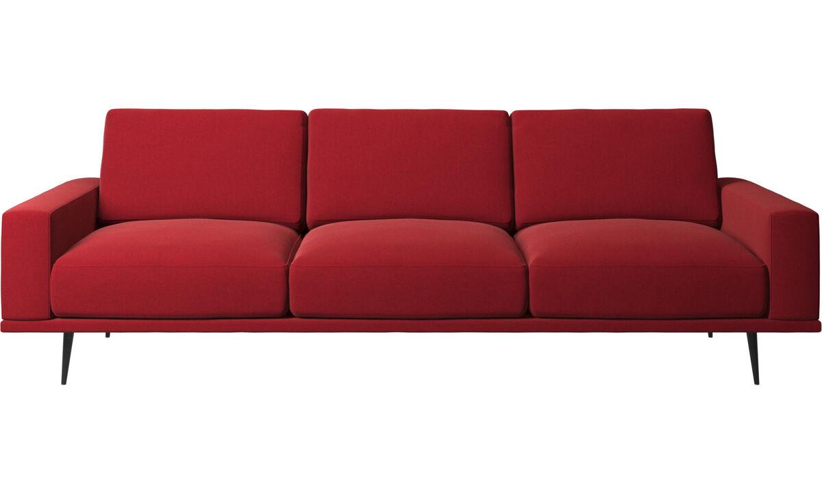 3 seater sofas - Carlton sofa - Red - Fabric