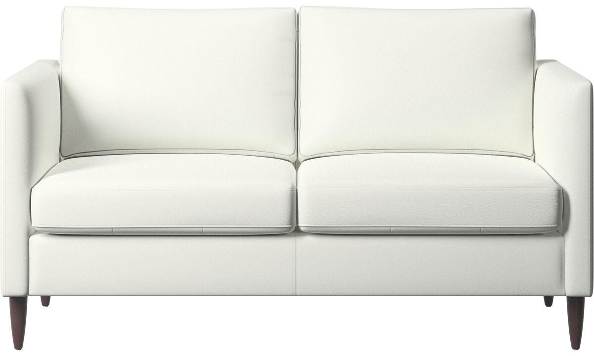 2 seater sofas - Indivi sofa - White - Leather