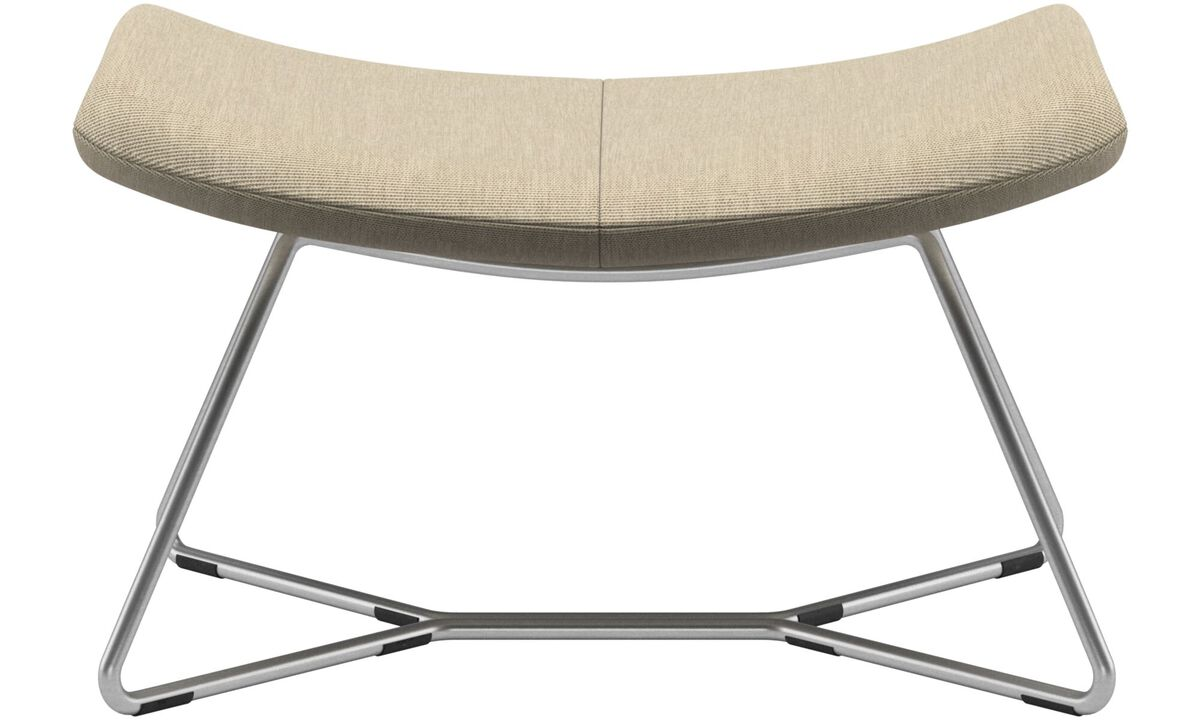Ottomans - Imola footstool - Brown - Fabric