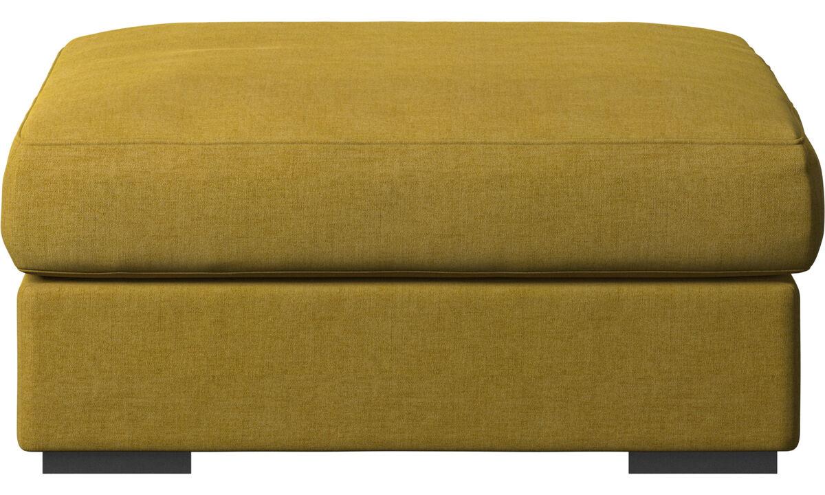 Footstools - Cenova footstool - Yellow - Fabric
