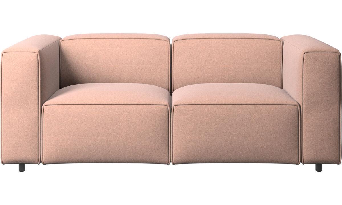 2 seater sofas - Carmo sofa - Red - Fabric