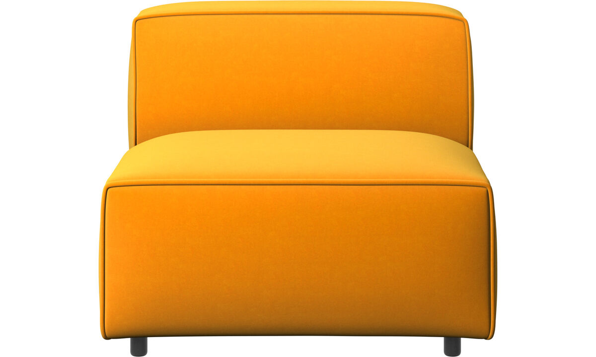 Sofás modulares - silla/módulo básico Carmo - Naranja - Tela