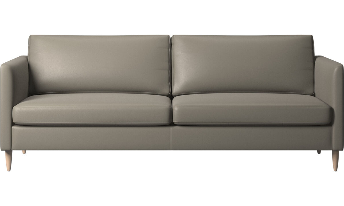 3 seater sofas - Indivi sofa - Grey - Leather