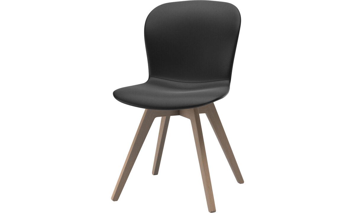 Καρέκλες τραπεζαρίας - Καρέκλα Adelaide - Μαύρο - Δέρμα