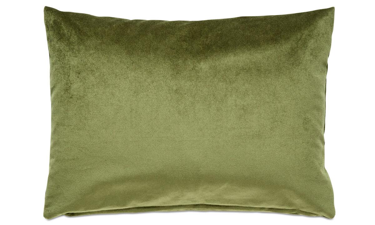 Cojines de terciopelo - Cojín Velvet plain - En verde - Tela