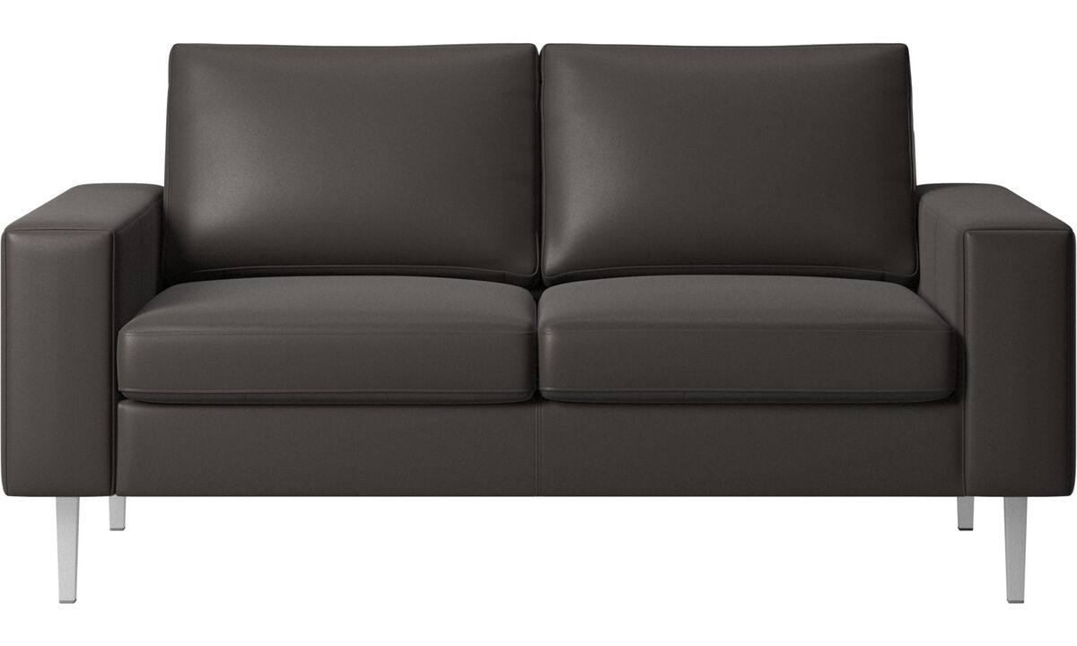 2 seater sofas - Indivi 2 sofa - Brown - Leather