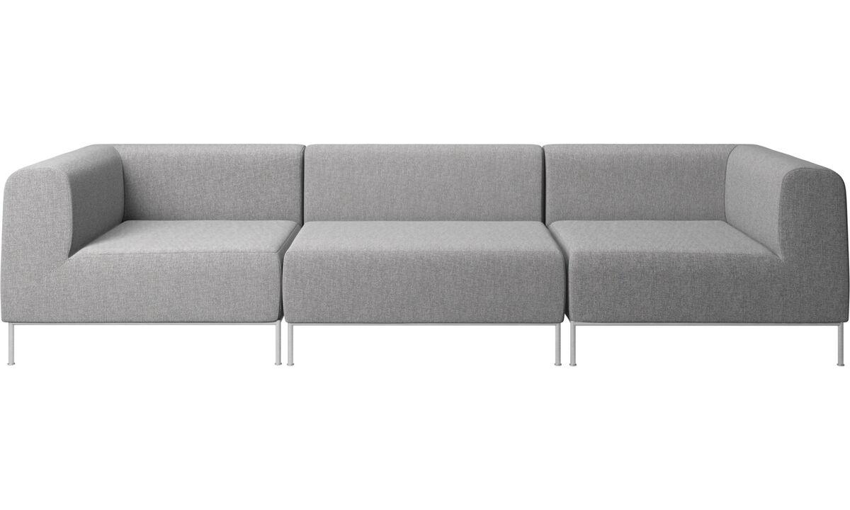 Sofás de 3 lugares - sofá Miami - Cinza - Tecido