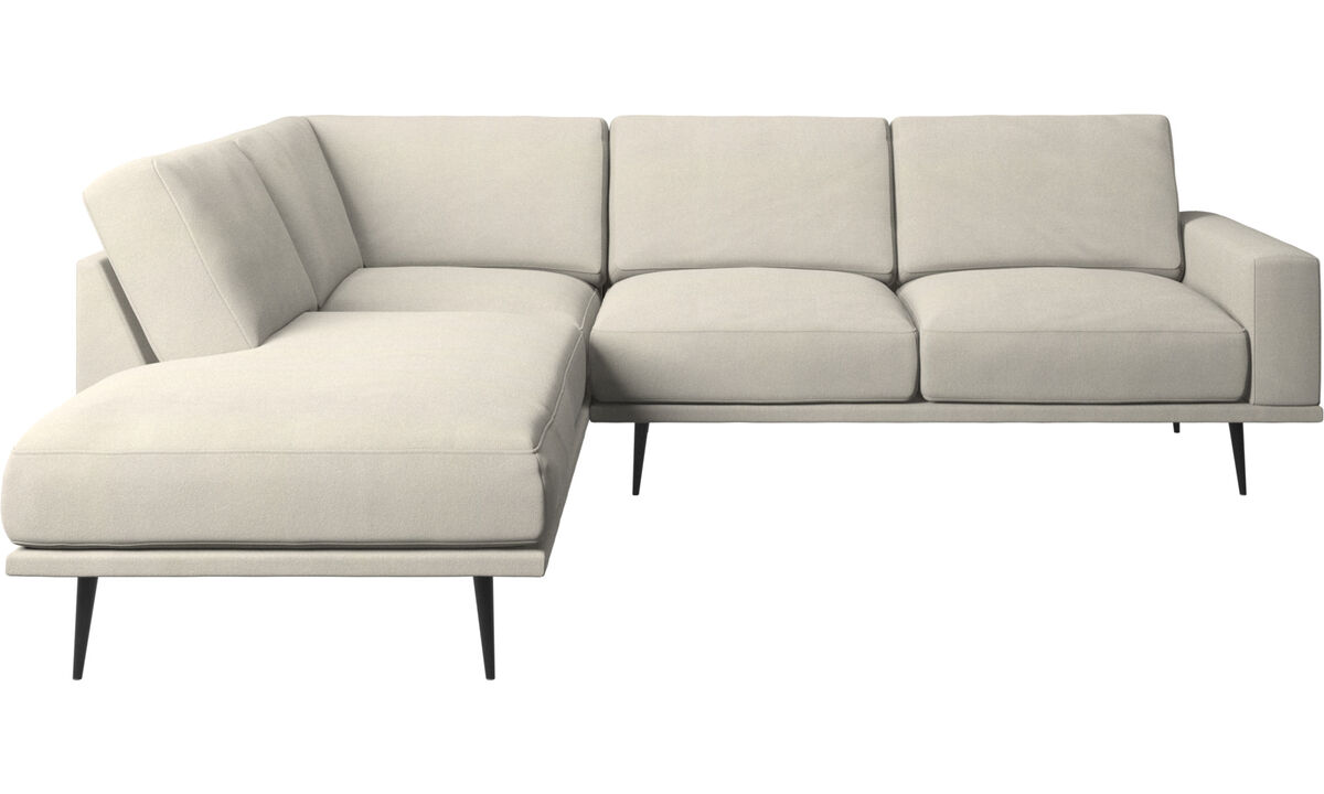 Lounge Suites - Carlton sofa with lounging units - White - Fabric