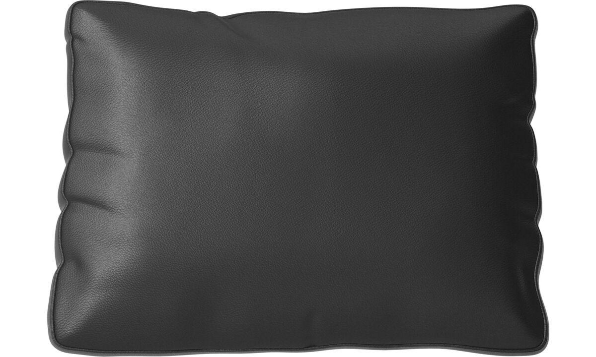 Furniture accessories - Cuscino Miami - Nero - Pelle
