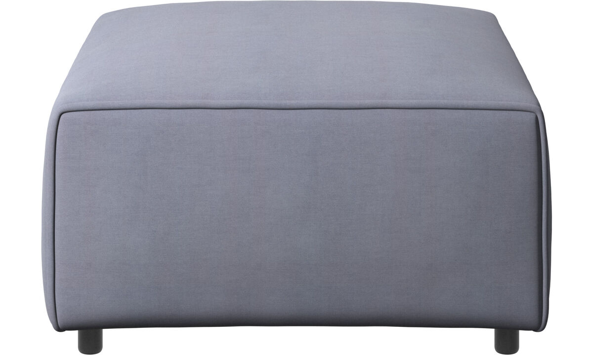 Sofás modulares - puf Carmo - En azul - Tela