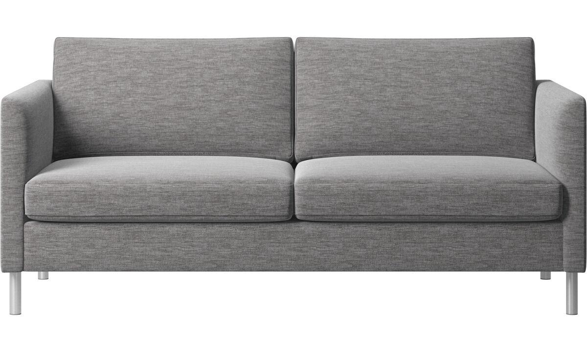 Sofás de 2 lugares e meio - Sofá Indivi - Cinzento - Tecido