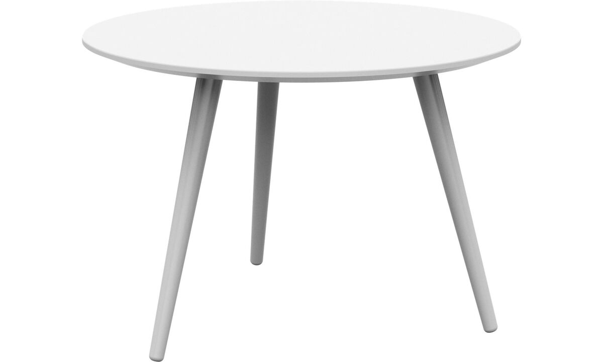 Coffee tables - Bornholm coffee table - round - White - Lacquered
