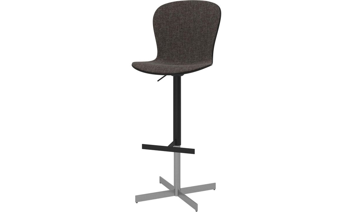 Bar stools - Adelaide barstool with gas cartridge - Brown - Fabric