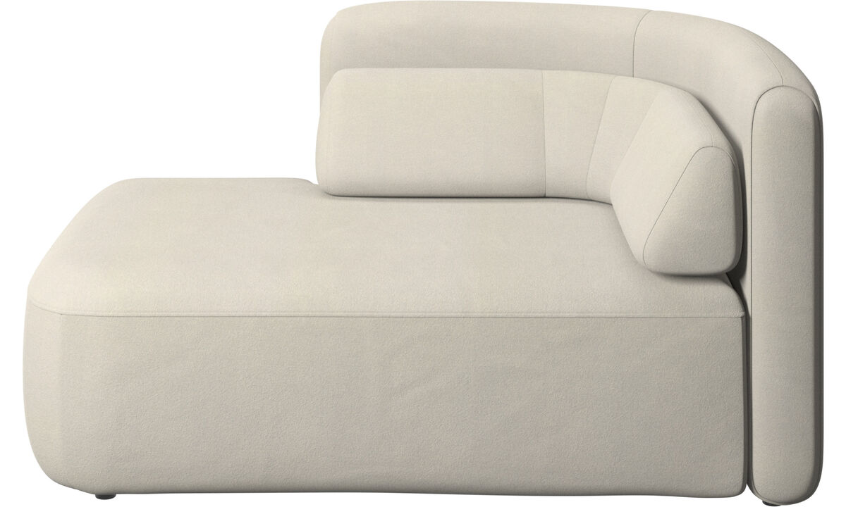 Modular sofas - Ottawa 1,5 seater open end left side - White - Fabric