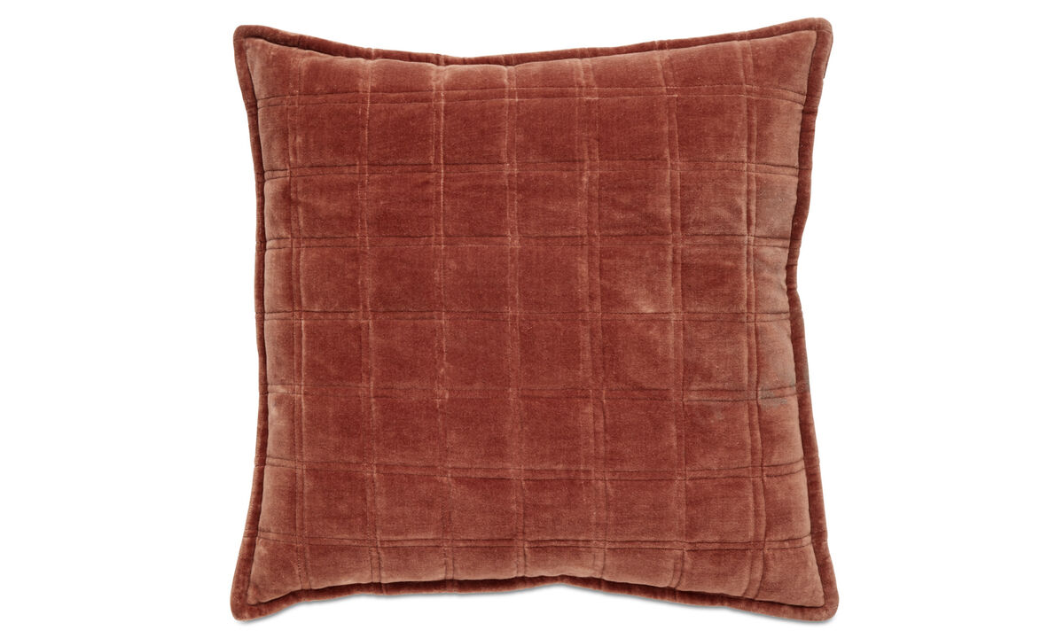 Patterned cushions - Cuscino Quilt - Rosso - Tessuto