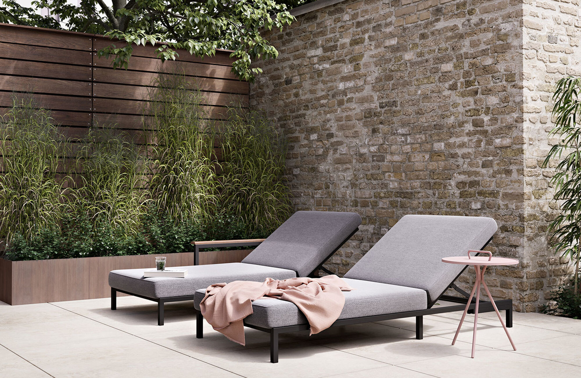 Designs by Henrik Pedersen - Rome sun lounger without armrest