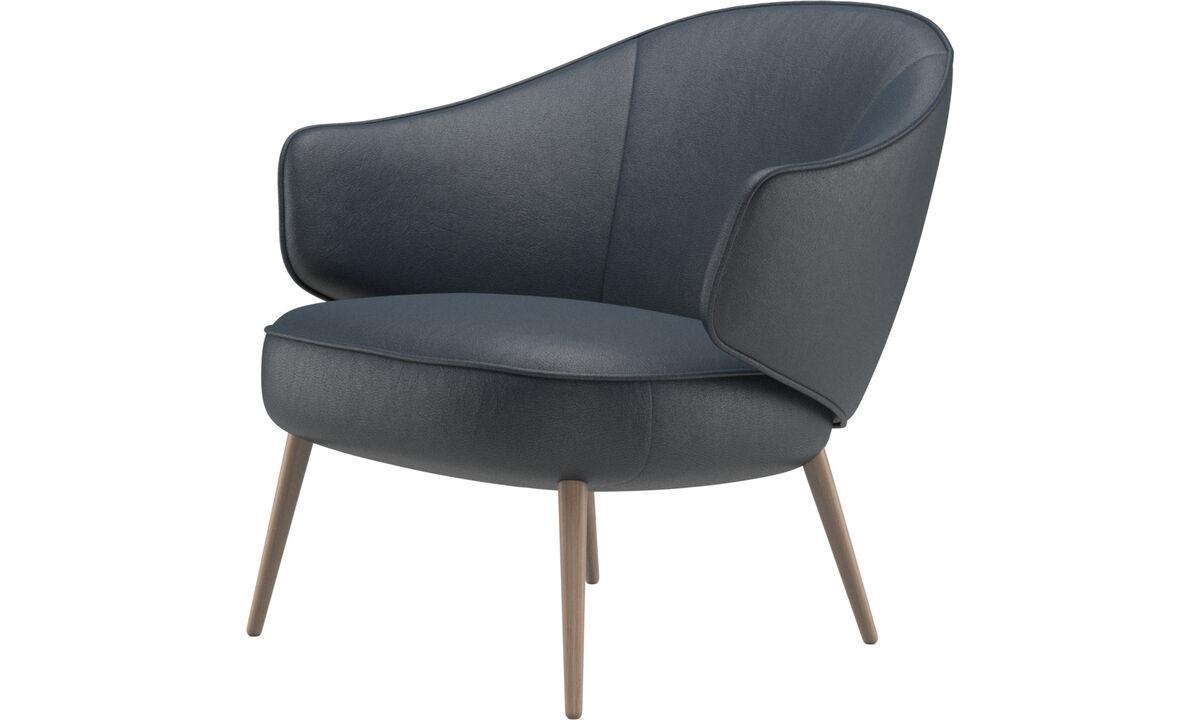 Fauteuils - Charlotte fauteuil - Blauw - Stof