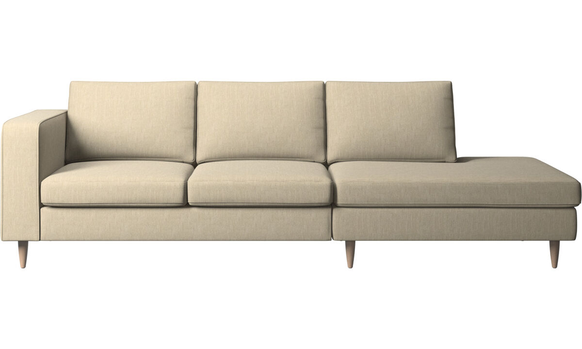 Sofas - Indivi 2 sofa with lounging unit - Brown - Fabric