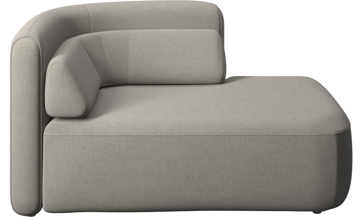 Modular sofas - Ottawa 1,5 seater open end right side - Grey - Fabric
