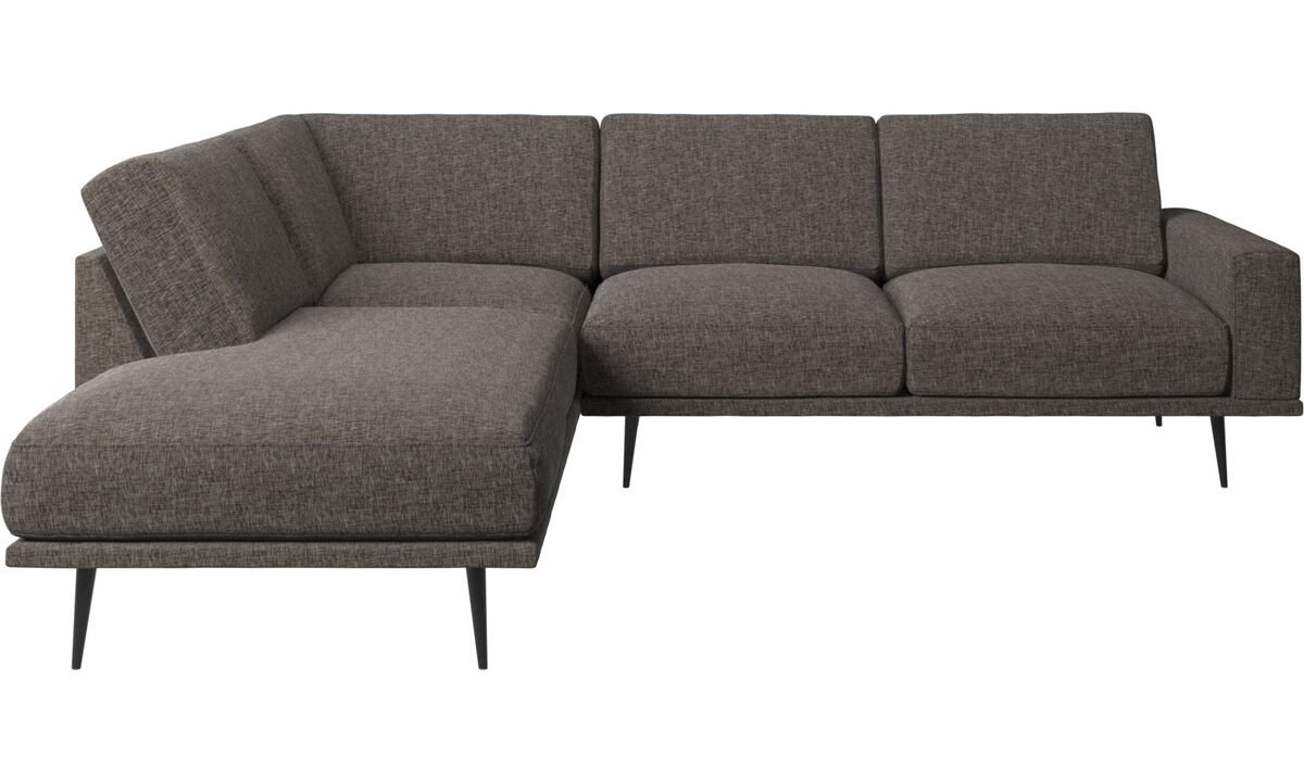 Sofas with open end - Carlton sofa with lounging units - Brown - Fabric