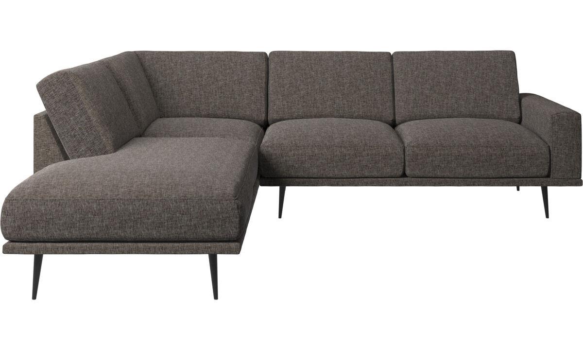 Sofás con lado abierto - Sofá Carlton con módulos de descanso - En marrón - Tela