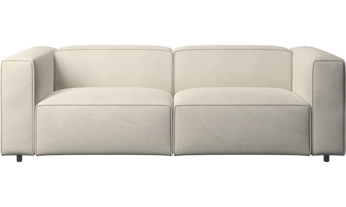 Sofás reclinables - Sofá Carmo con movimiento - Blanco - Tela