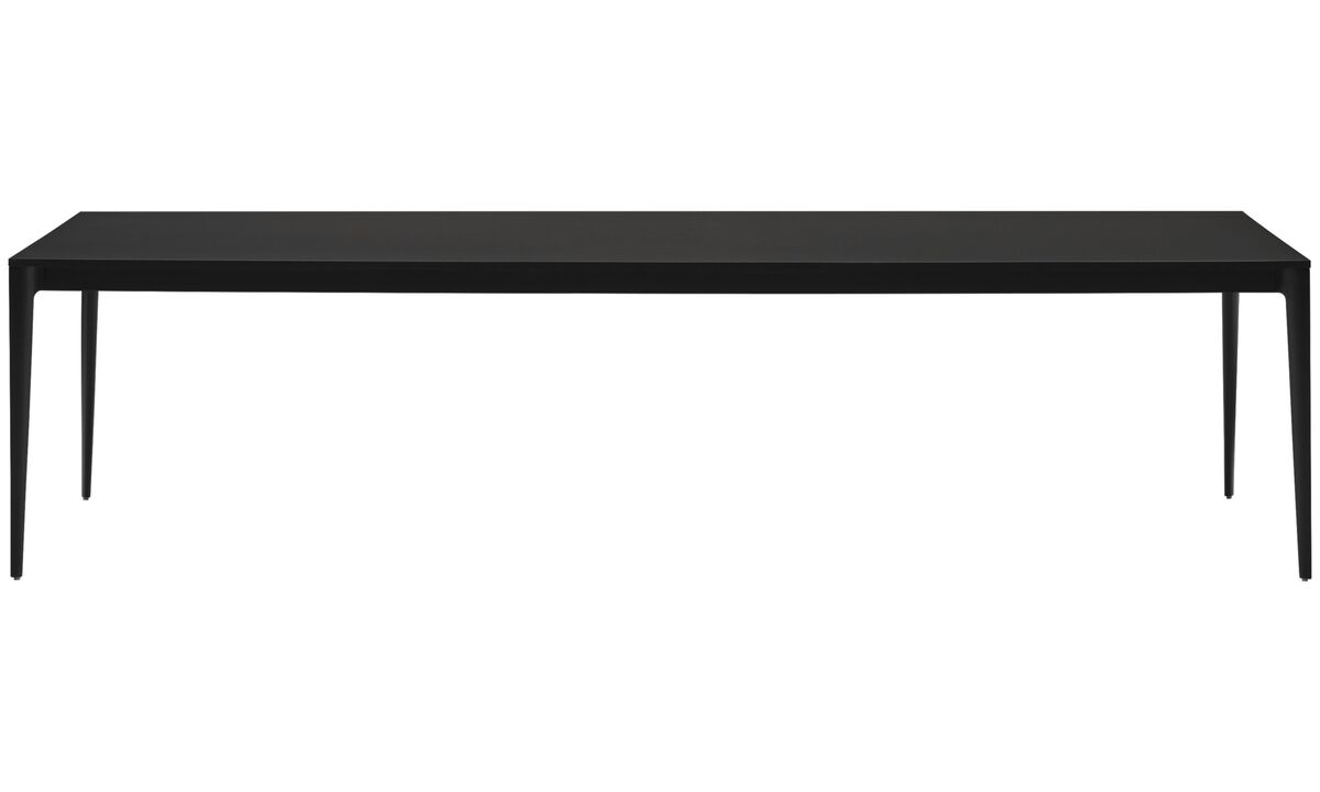 Mesas de reuniones - Mesa de conferencias/mesa de comedor Torino - rectangular - En negro - Laminado